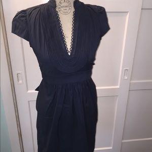 Navy blue dress xs.
